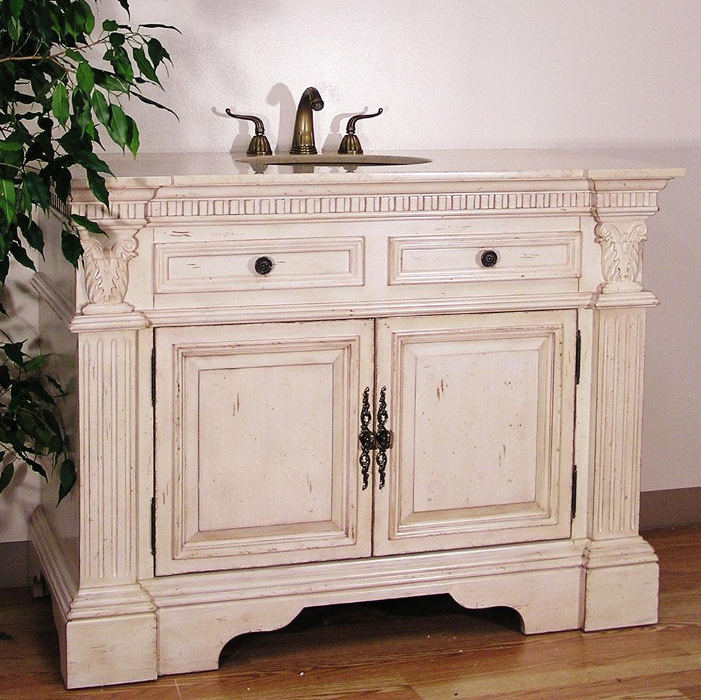 Antique white bathroom vanities remodeling bathroom for Bathroom vanity cabinets