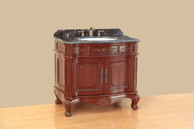 Bosconi 37 inch Antique Single Bathroom Vanity
