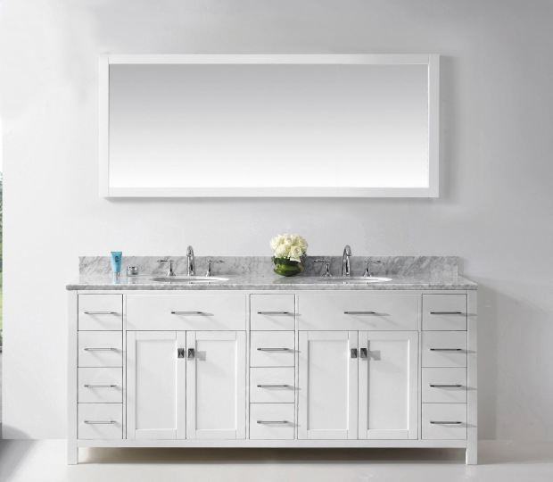Caroline Bathroom Vanity White Finish