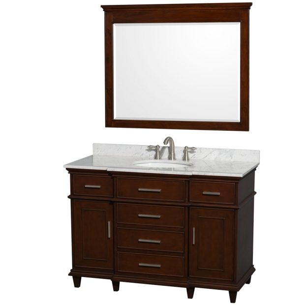 Berkeley 48 inch Dark Chestnut Finish Discount Bathroom Vaniy