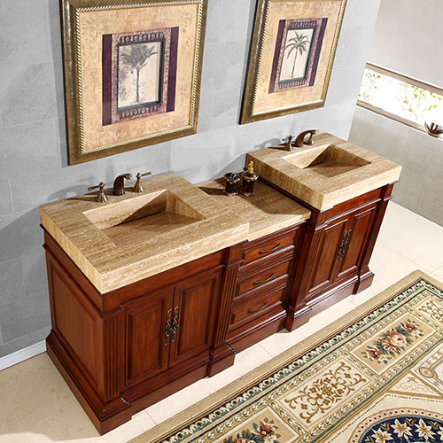 Silkroad 83 inch Discount Bathroom Vanity
