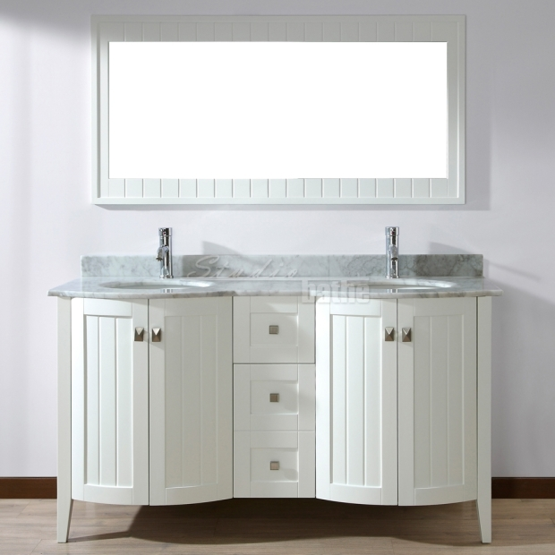Bridgeport White Double Sink Bathroom Vanity