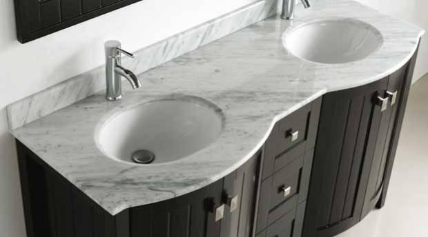 Bridgeport 60 inch Modern Bathroom Vanity Espresso Finish