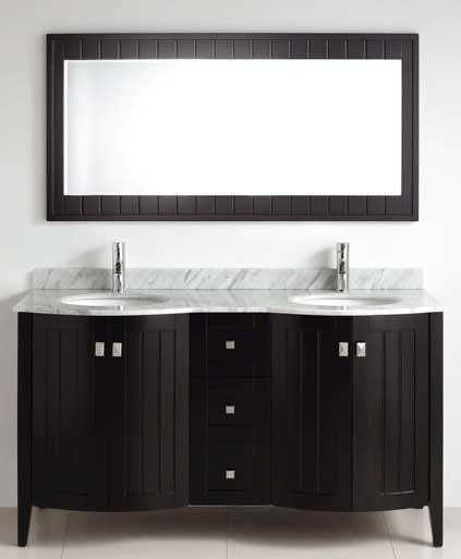 Bridgeport 60 inch Modern Bathroom Vanity Espresso Finish