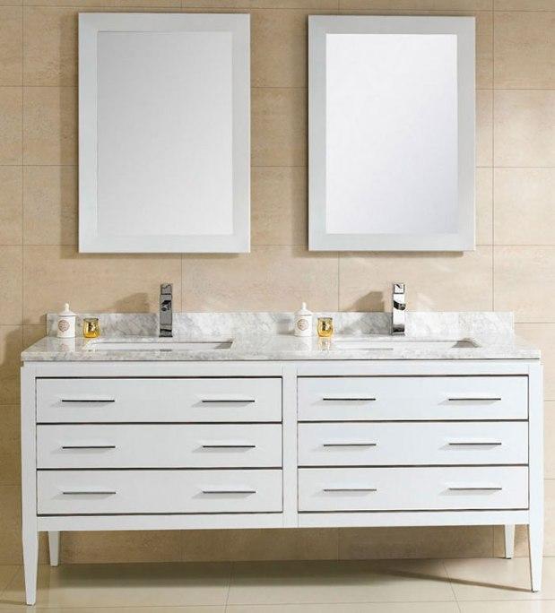 Adornus Modern Double Bathroom Vanity