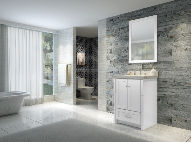 Ace 25 inch Single Sink Bathroom Vanity Set