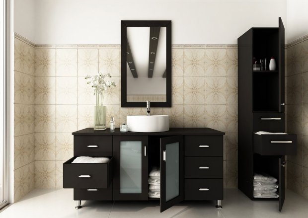 Avola 47 inch Vessel Sink Bathroom Vanity Espresso Finish