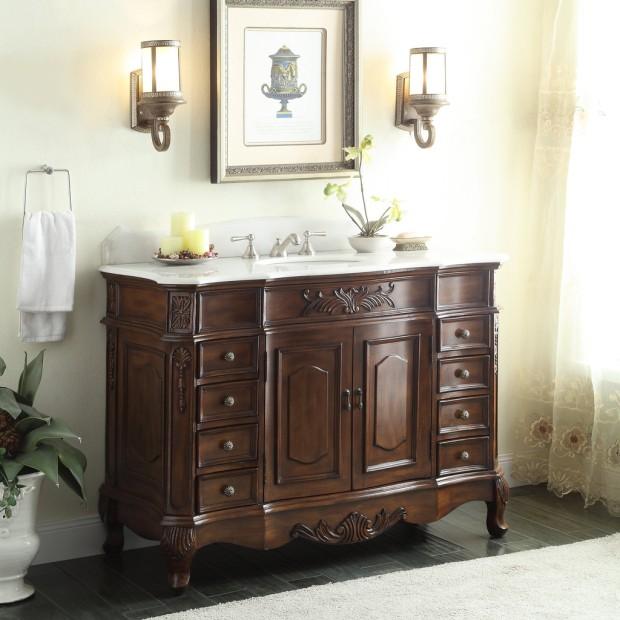 Adelina 48 inch Old Fashioned Look Bathroom Vanity