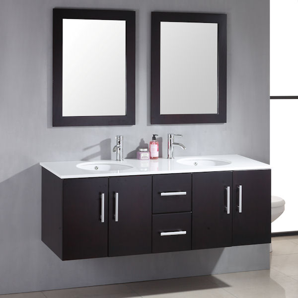 59 inch Double Basin Sink Vanity Set