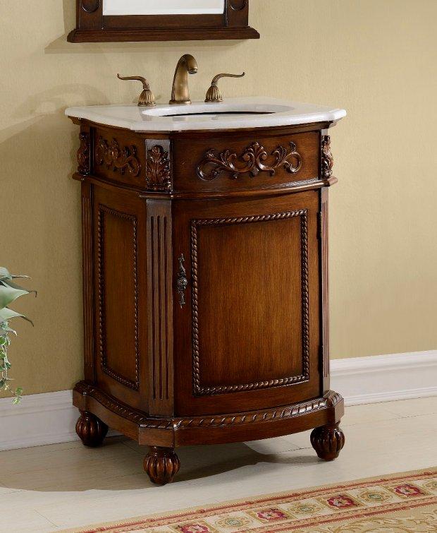 Adelina 24 inch Victorian Bathroom Vanity Cabinet