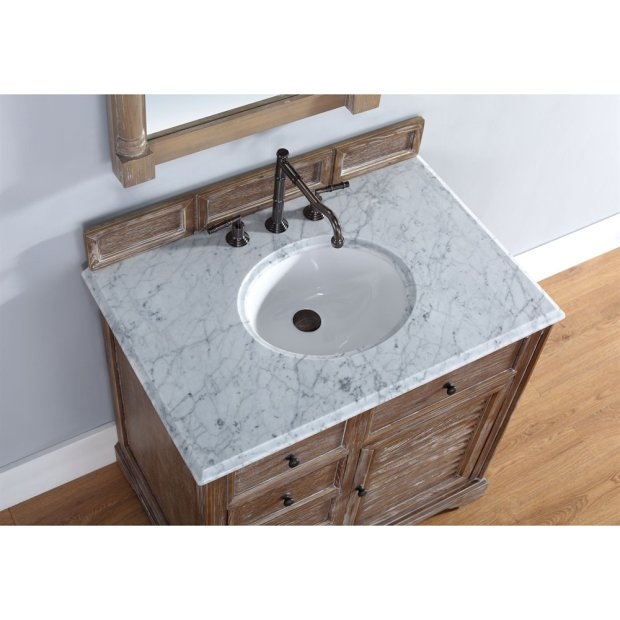 36 inch Bathroom Vanity in Driftwood Finish